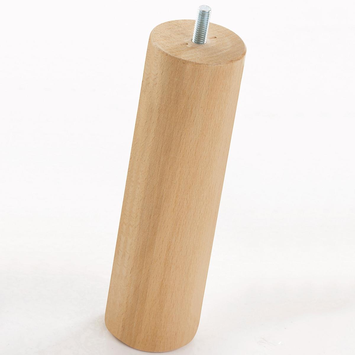 4 ножки для кроватного основания4 ножки, адаптируемые для любого типа кроватного основания (вкручивающиеся или вставляемые в паз)   .    Характеристики : - Ножки кроватного основания из массива бука с покрытием целлюлозным лаком . - В комплекте 4 ножки . Размер :- ?6 x В 20 см .<br><br>Цвет: серо-бежевый
