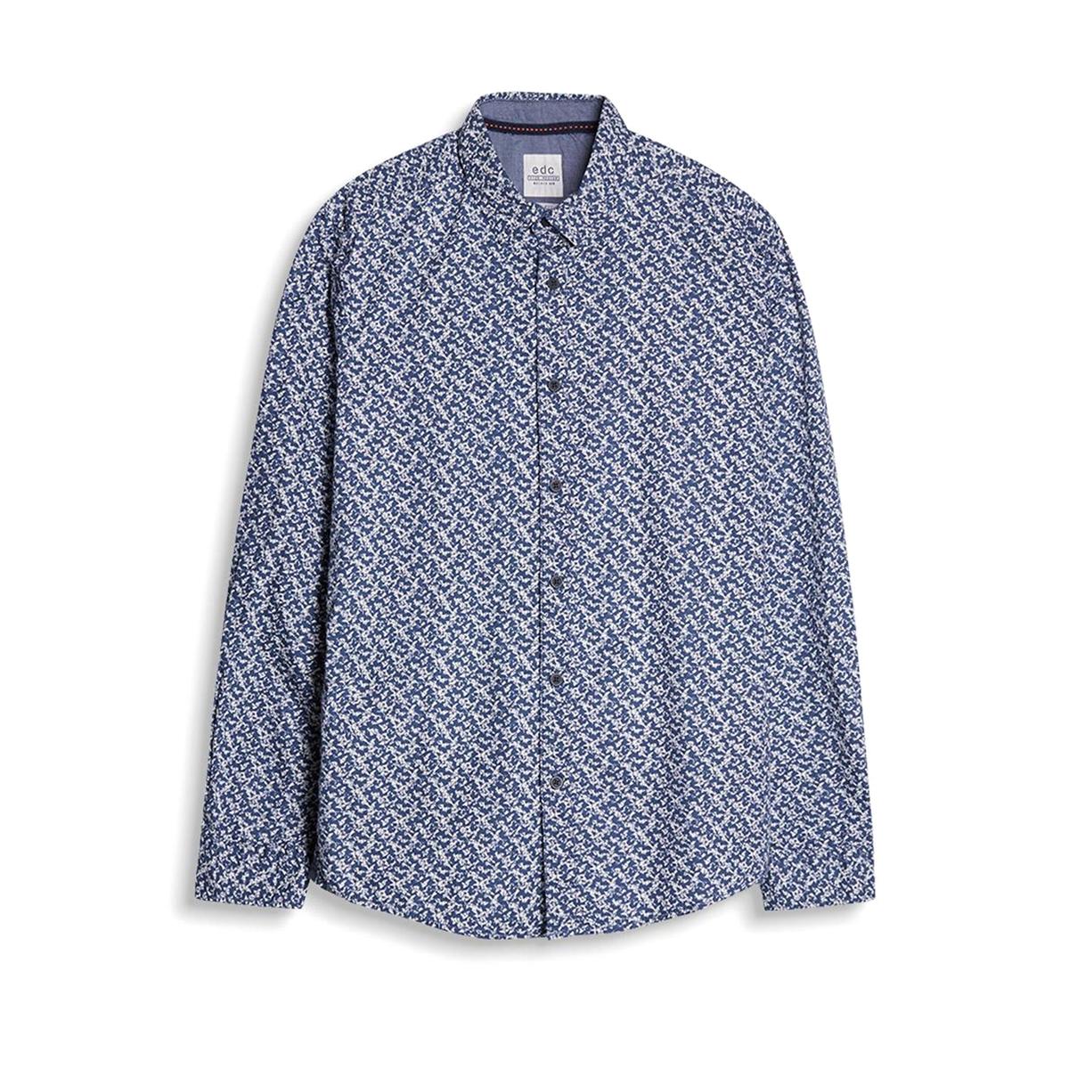 Рубашка с рисункомРубашка с воротником со свободными уголками. Прямой покрой. Геометрический рисунок. Длинные рукава. Состав и описание :Материал         100% хлопокМарка         ESPRIT Уход :Машинная стирка при 30 °С с вещами схожих цветовСтирать и гладить с изнаночной стороныМашинная сушка в умеренном режимеГладить при низкой температуре<br><br>Цвет: синий