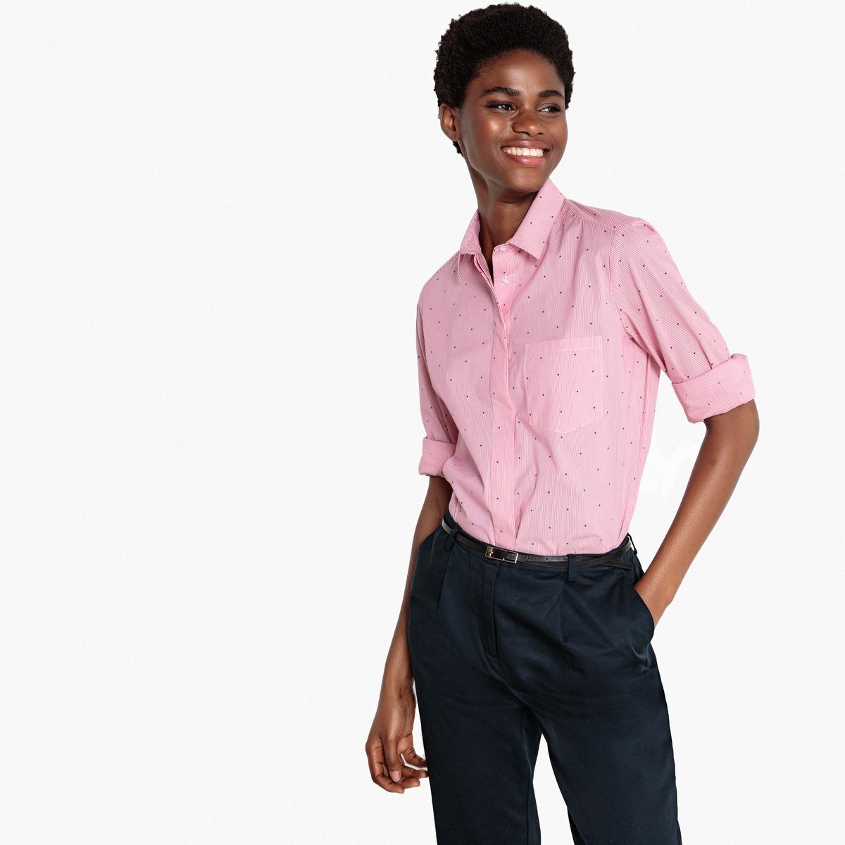 Рубашка в полоску прямого покроя с длинными рукавами рубашка прямого покроя большого размера с контрастными пуговицами