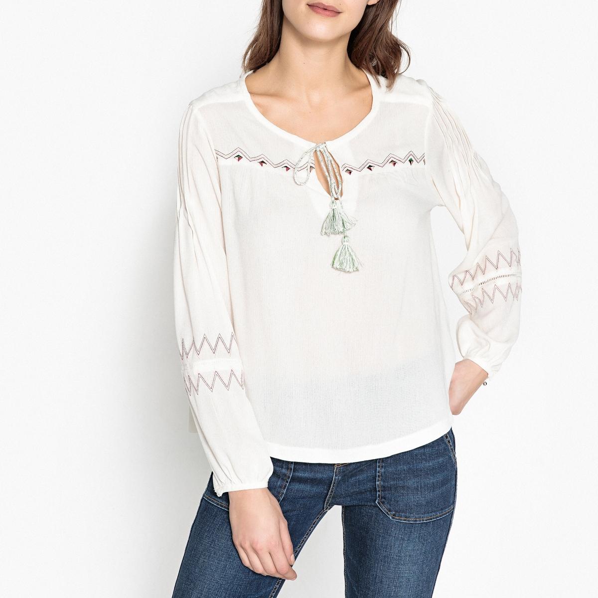 Блузка с вышивкой блузка с вышивкой в стиле фолк