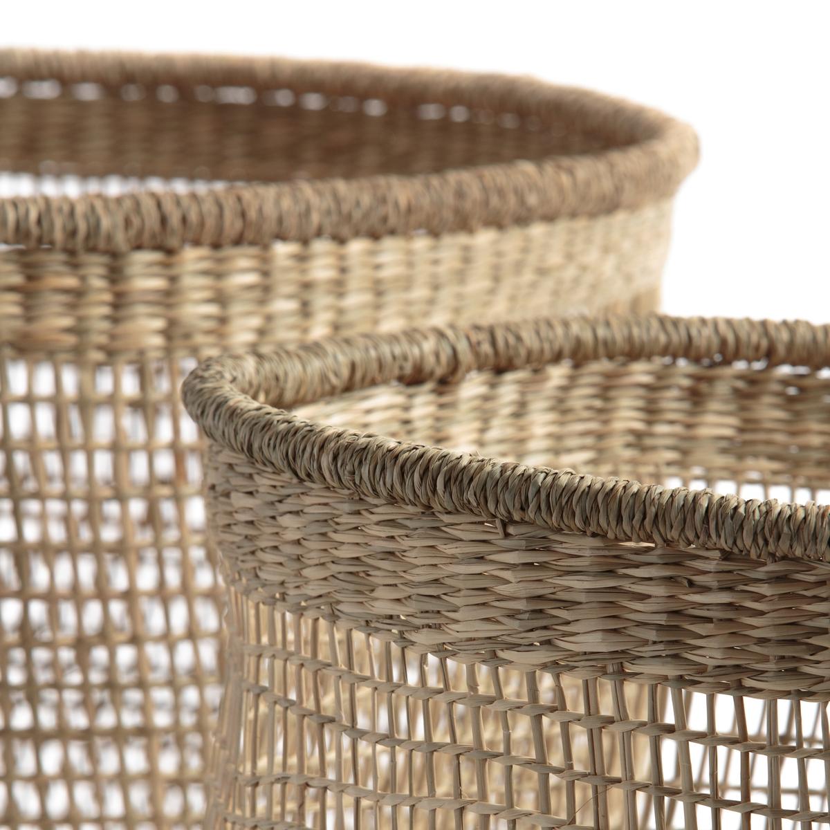 Корзина из бамбука Cidarie (2 шт.)Комплект из 2 корзин Cidarie. Корзины из плетеного бамбука могут использоваться как для хранения, так и для украшения интерьера. Произведено вручную. Размеры : ?35 x В28 см и ?45 x В33 см.<br><br>Цвет: серо-бежевый