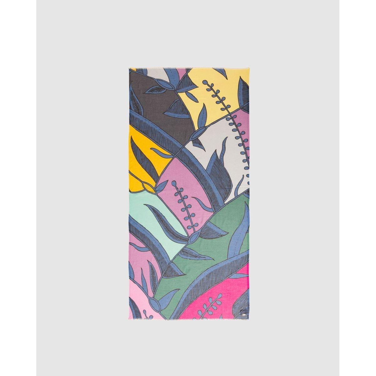 Foulard à imprimé végétal