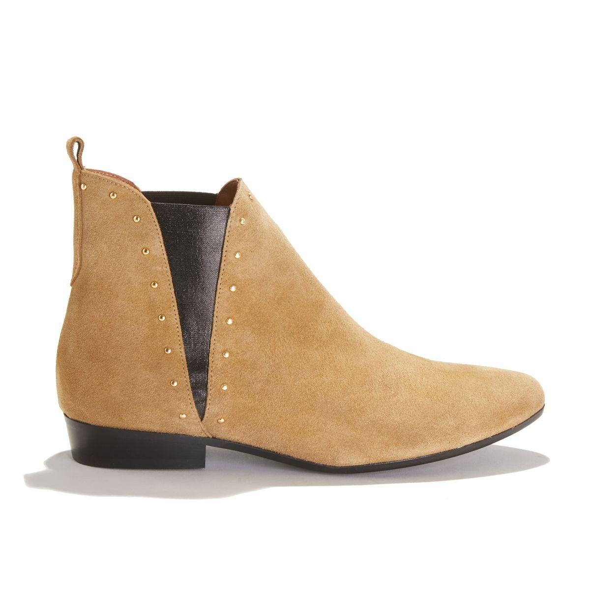 Boots en cuir RITA STUDS SUEDE CALF