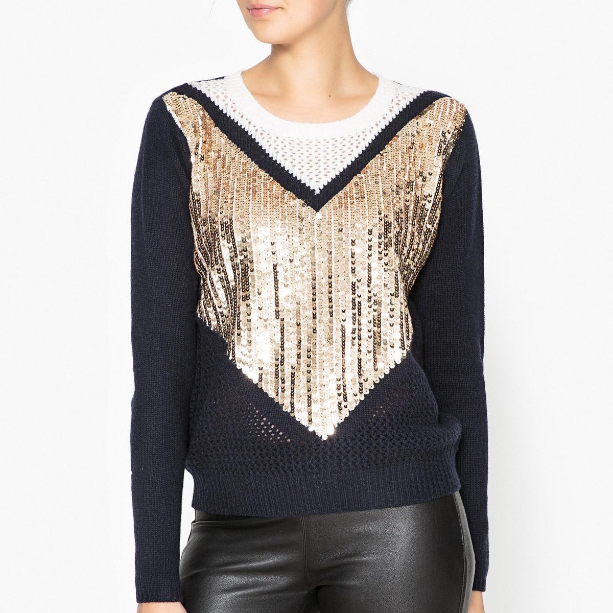 Пуловер трикотажный блестящий Эксклюзив Brand Boutique