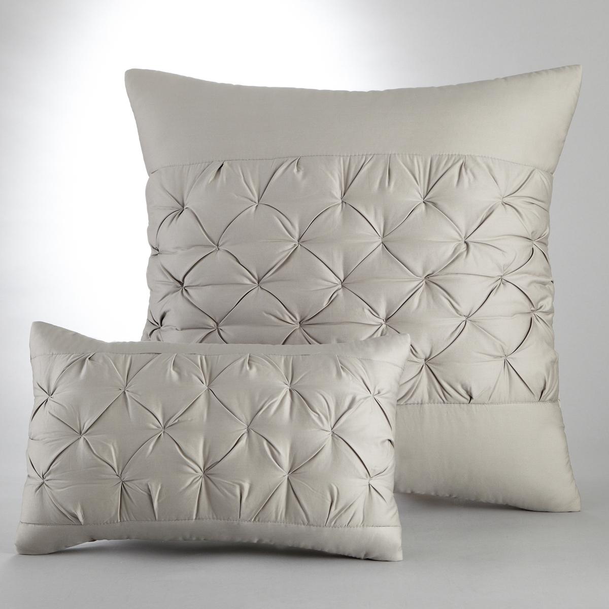 лучшая цена Наволочка La Redoute На подушку-валик или наволочка KHIN 50 x 30 см серый