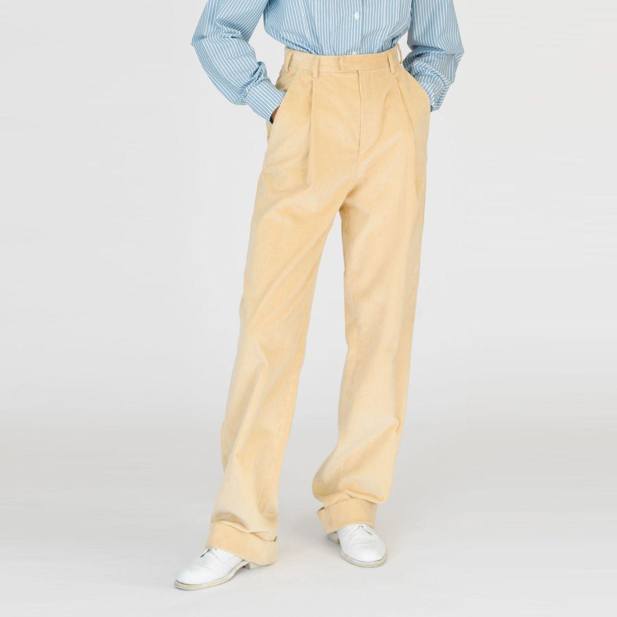Pantalon droit velours côtelé