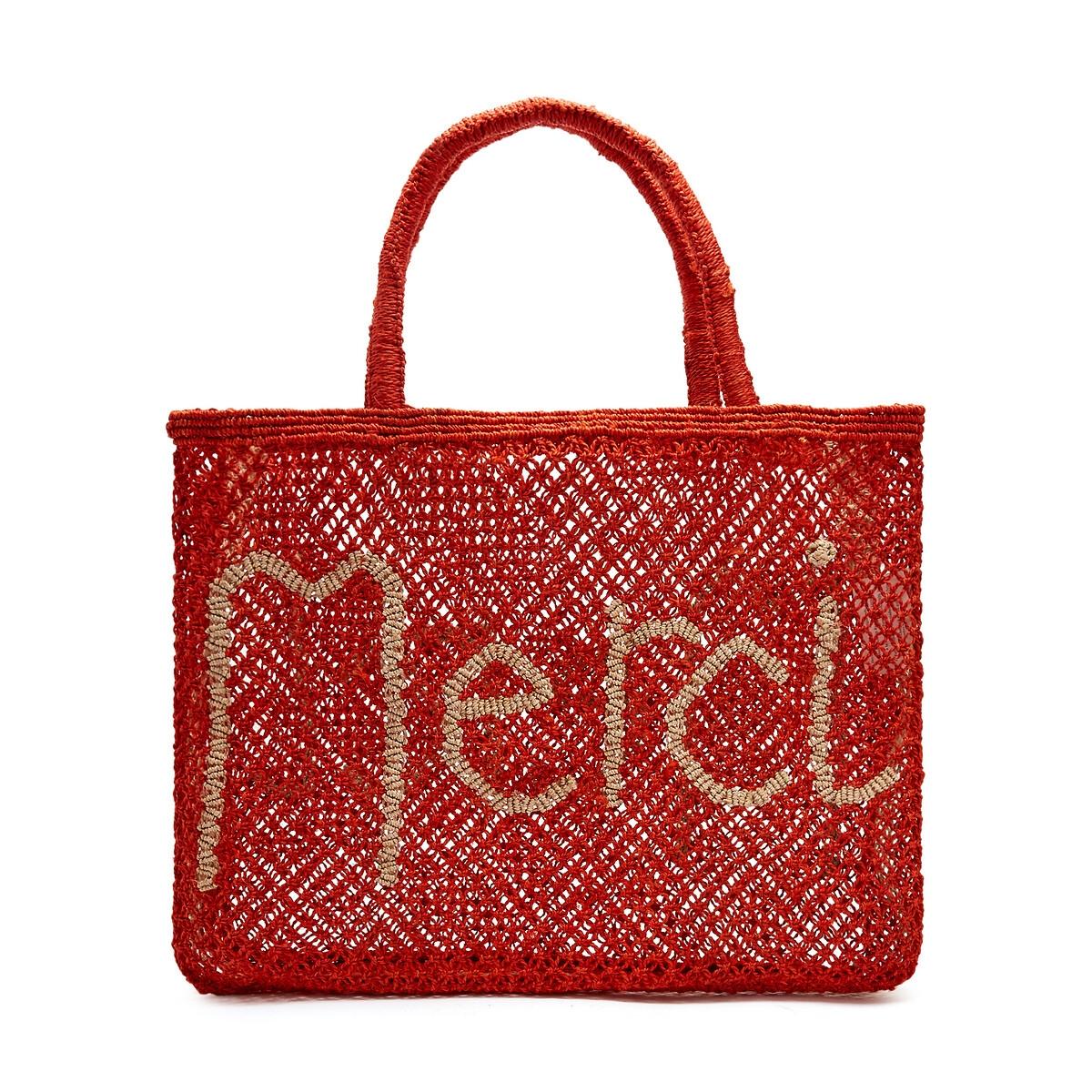 Сумка-шоппер La Redoute Из джута с надписью MERCI единый размер бежевый зеркало la redoute д x в см principe единый размер бежевый