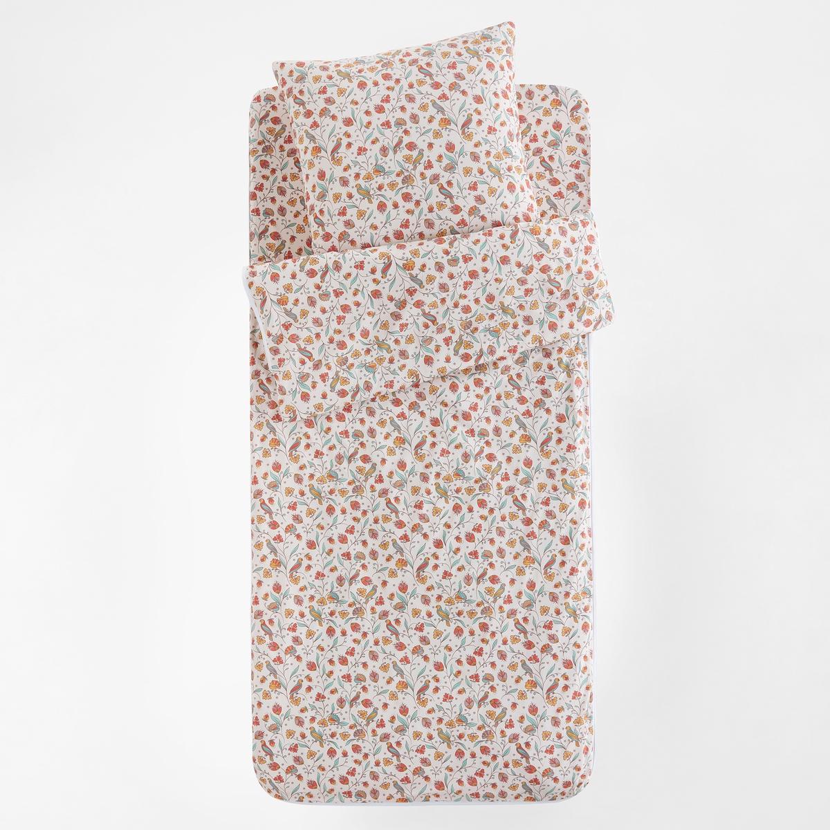Постельный La Redoute Набор без одеяла Bertille 90 x 140 см розовый простыня la redoute натяжная с рисунком ninon 90 x 190 см розовый