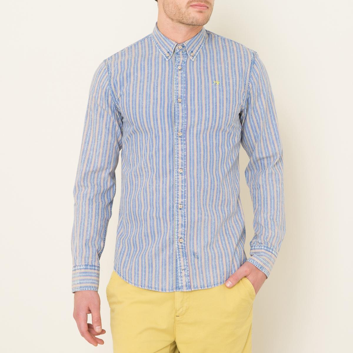 Рубашка в полоскуСостав и описание Материал : 100% хлопокМарка : SCOTCH AND SODA<br><br>Цвет: синий