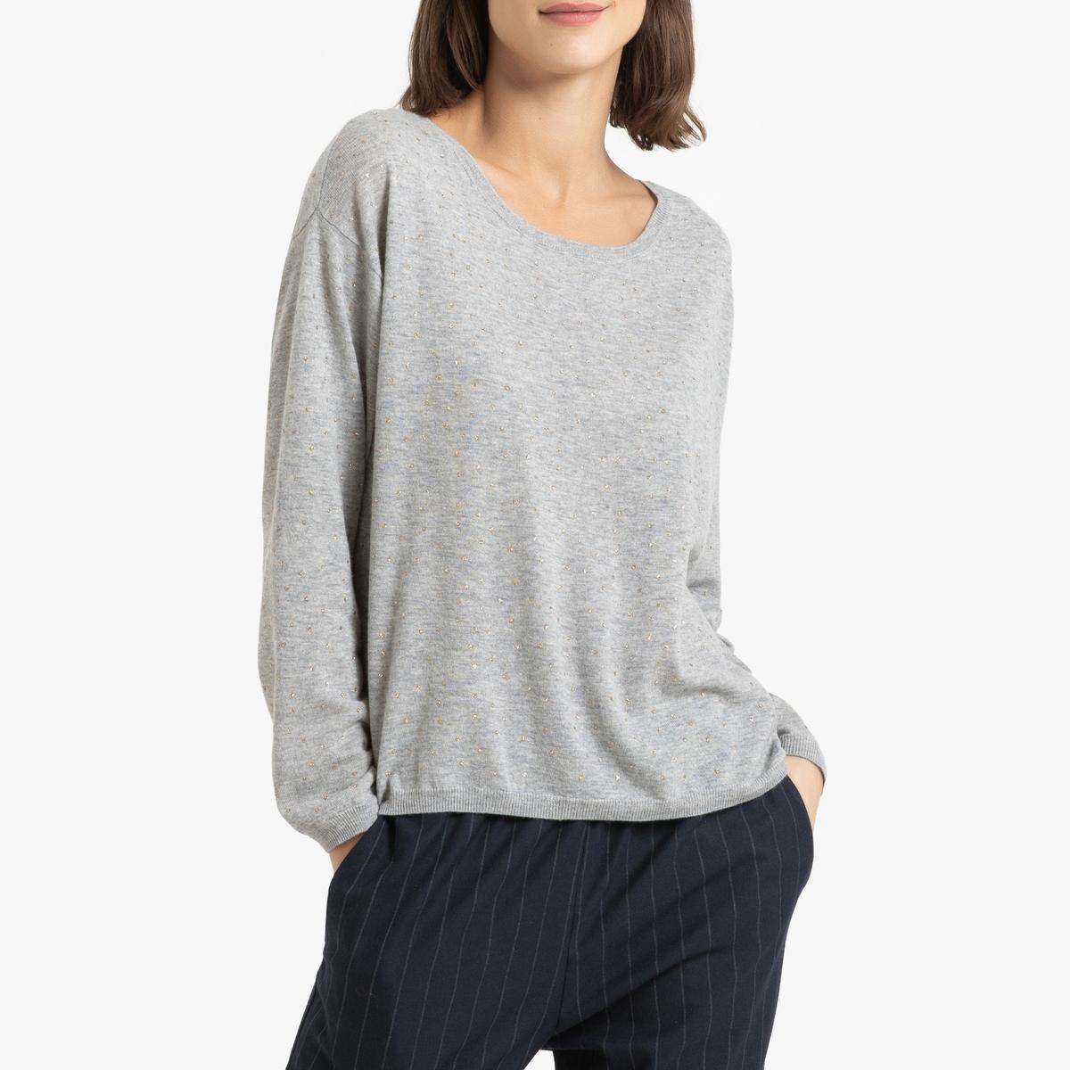 Пуловер La Redoute Из тонкого трикотажа из шерсти и кашемира BERNON 2(M) серый ic men коричневый пуловер из кашемира