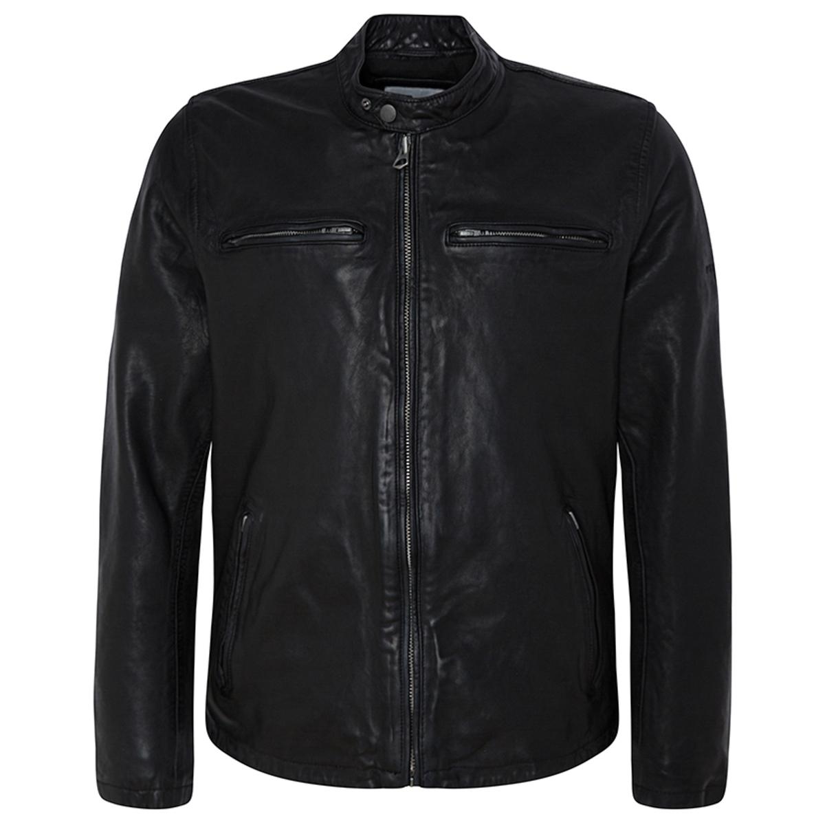 Блузон La Redoute Кожаный в байкерском стиле Dannys S черный блузон la redoute в байкерском стиле ozone s черный