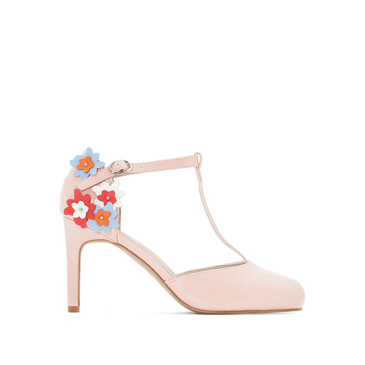 Туфли лакированные с деталями в виде цветов canali лакированные туфли
