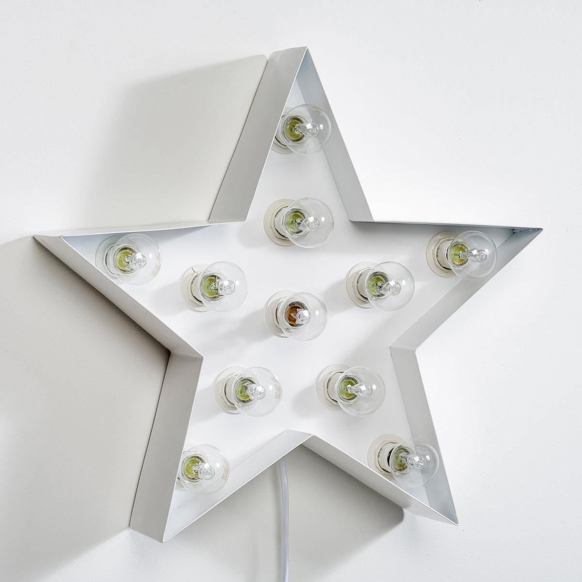 Светильник декоративный, SternaХарактеристики светильника  Sterna  :Металлический каркас в форме звезды с 5 ответвлениями, покрытыми белой матовой эпоксидной эмалью .11 патронов E14 для лампочек макс 40W (не входят в комплект), энергетический класс A B C D EЭлектрифицированный Шнур питания длиной 1м 50 с выключателем .Не для использования на улицеМожно повесить над камином или на стену .Другие оригинальные предметы декора вы можете найти на сайте laredoute.ru.Размер светильника  Sterna  :50 x 50 x 10 см<br><br>Цвет: белый