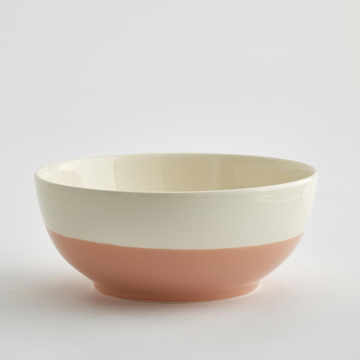 Салатница двухцветная из керамики, ZalatoМинималистический дизайн, большой объем, в аутентичном стиле : салатница Zalato привлекает своей функциональностью и объемом и сочетается с внутренним декором. Характеристики двухцветной салатницы из керамики Zalato :Из керамики.Размеры двухцветной салатницы из керамики Zalato :Высота : 11 см.Диаметр. внизу : 16 см.Диаметр. вверху : 28 см.Цвета двухцветной салатницы из керамики Zalato :Белый / синий.Белый / розовый.Белый / зеленый.  Другие салатницы и предметы декора стола вы можете найти на сайте laredoute.ru<br><br>Цвет: белый/ зеленый,белый/ розовая пудра,белый/синий глубокий