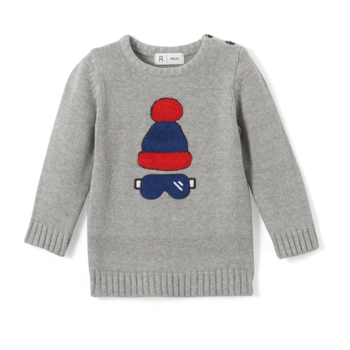 Пуловер с рисунком интарсия ML, 1 мес.-3 лет
