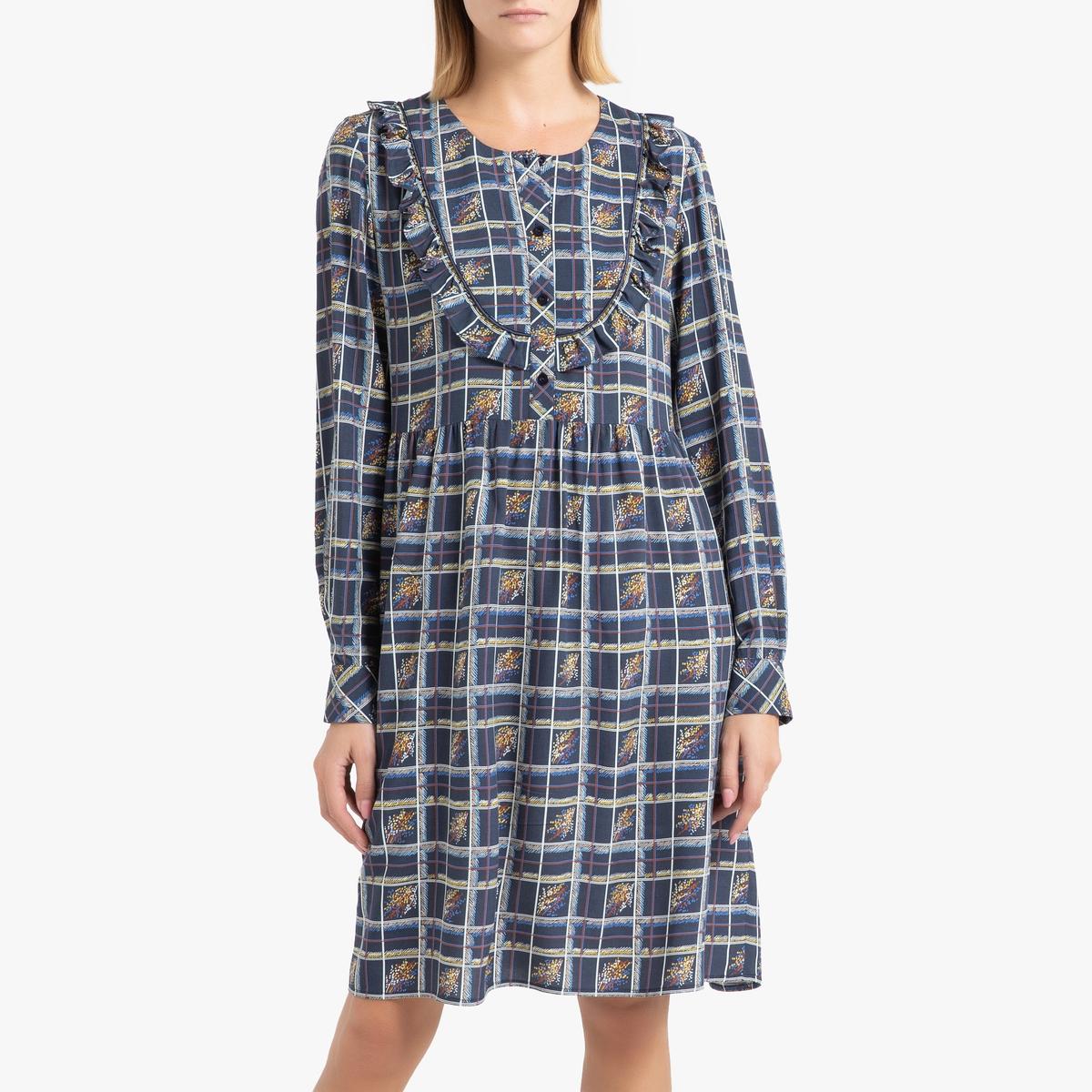 Платье La Redoute С принтом с длинными рукавами PALOMA 40 (FR) - 46 (RUS) другие платье la redoute с принтом chora 1 s другие