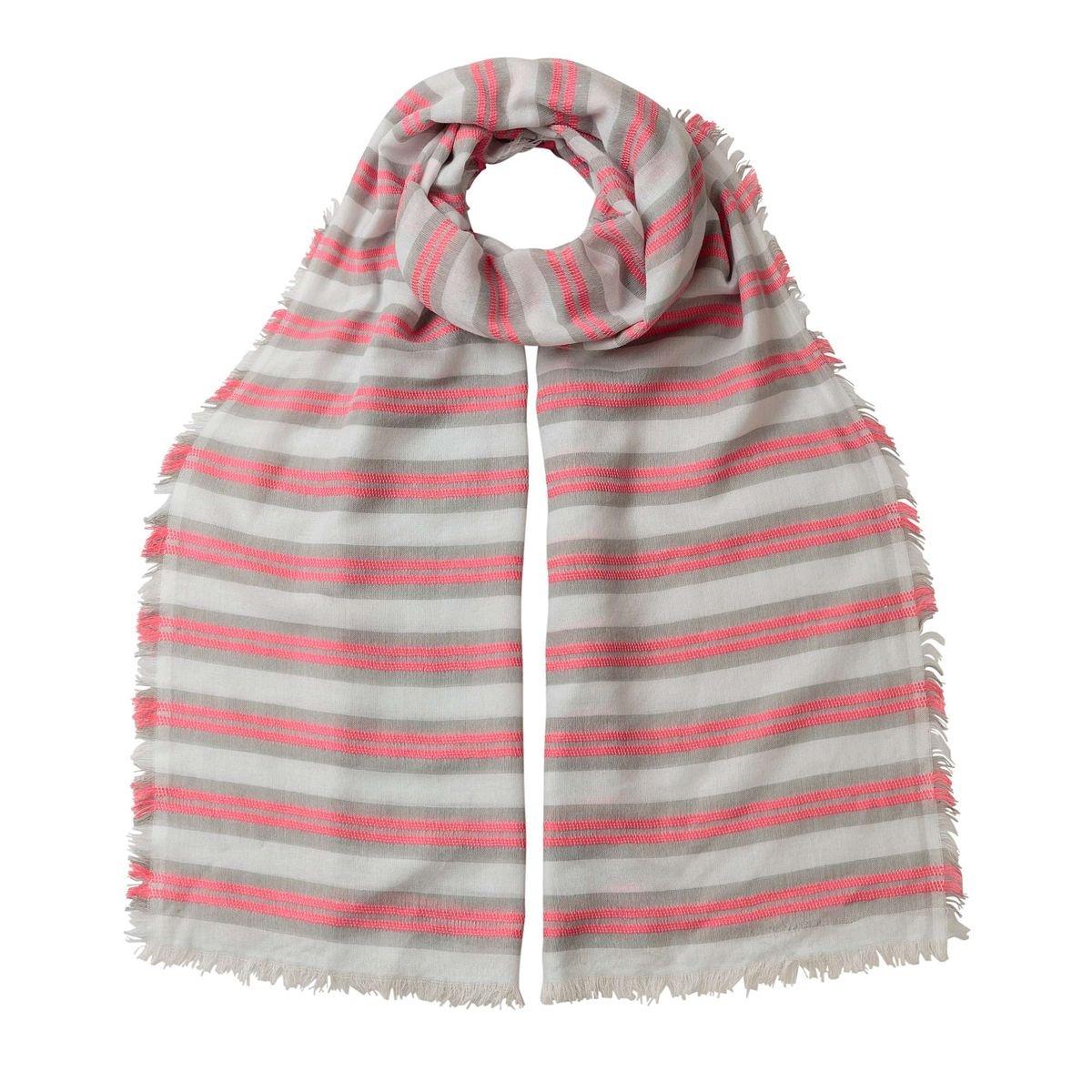 Foulard à rayures texturé