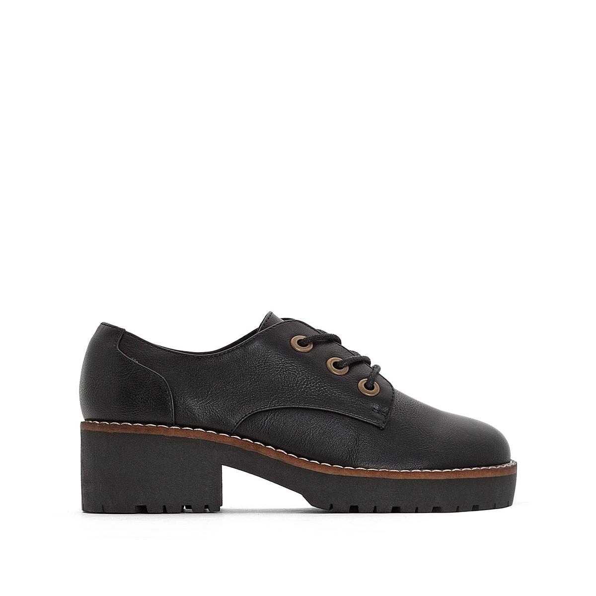 купить Ботинки-дерби на каблуке Cherblu недорого