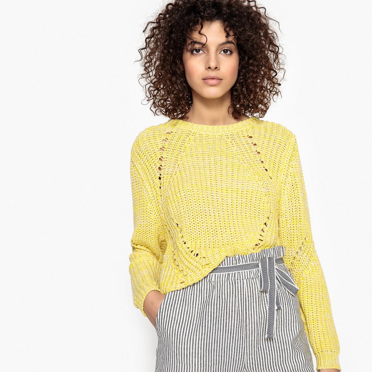 Пуловер с трикотажными вставками PAULДетали •  Длинные рукава •  Круглый вырез •  Плотный трикотаж Состав и уход •  100% хлопок •  Следуйте рекомендациям по уходу, указанным на этикетке изделия<br><br>Цвет: светло-желтый<br>Размер: M.S.XS
