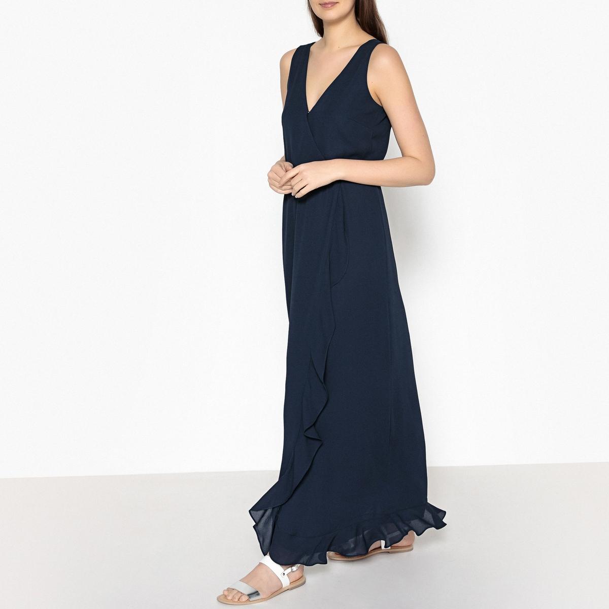 Платье коктейльное длинное без рукавов LIMON коктейльное платье star vestido v royal blue dd