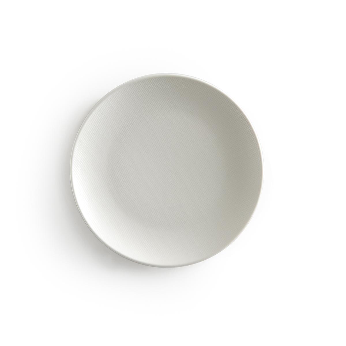 Комплект из десертных тарелок La Redoute LOURETTE единый размер белый комплект из 4 десертных тарелок sam baron