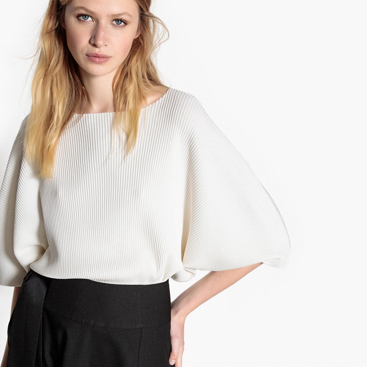 Пуловер La Redoute С вырезом-лодочкой из тонкого трикотажа L белый пуловер la redoute с вырезом лодочкой из тонкого трикотажа m красный