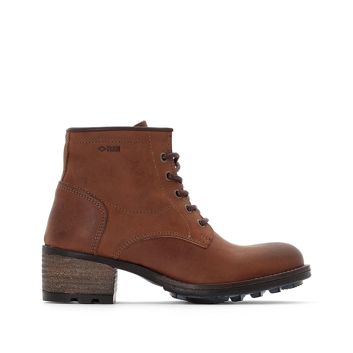Ботинки кожаные на шнуровке Carthy цены онлайн