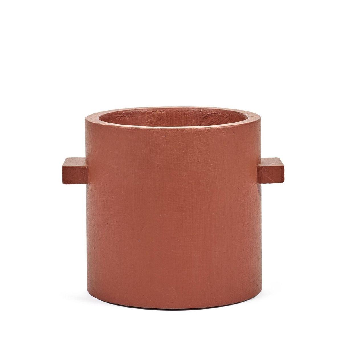 Pot Béton Cylindrique Rouille Marie Diam 20 x H 20 cm Serax