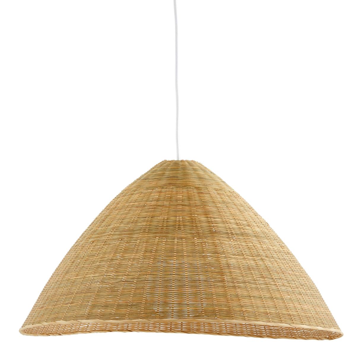 Lampadario artigianale in bambù intrecciato, Nicina