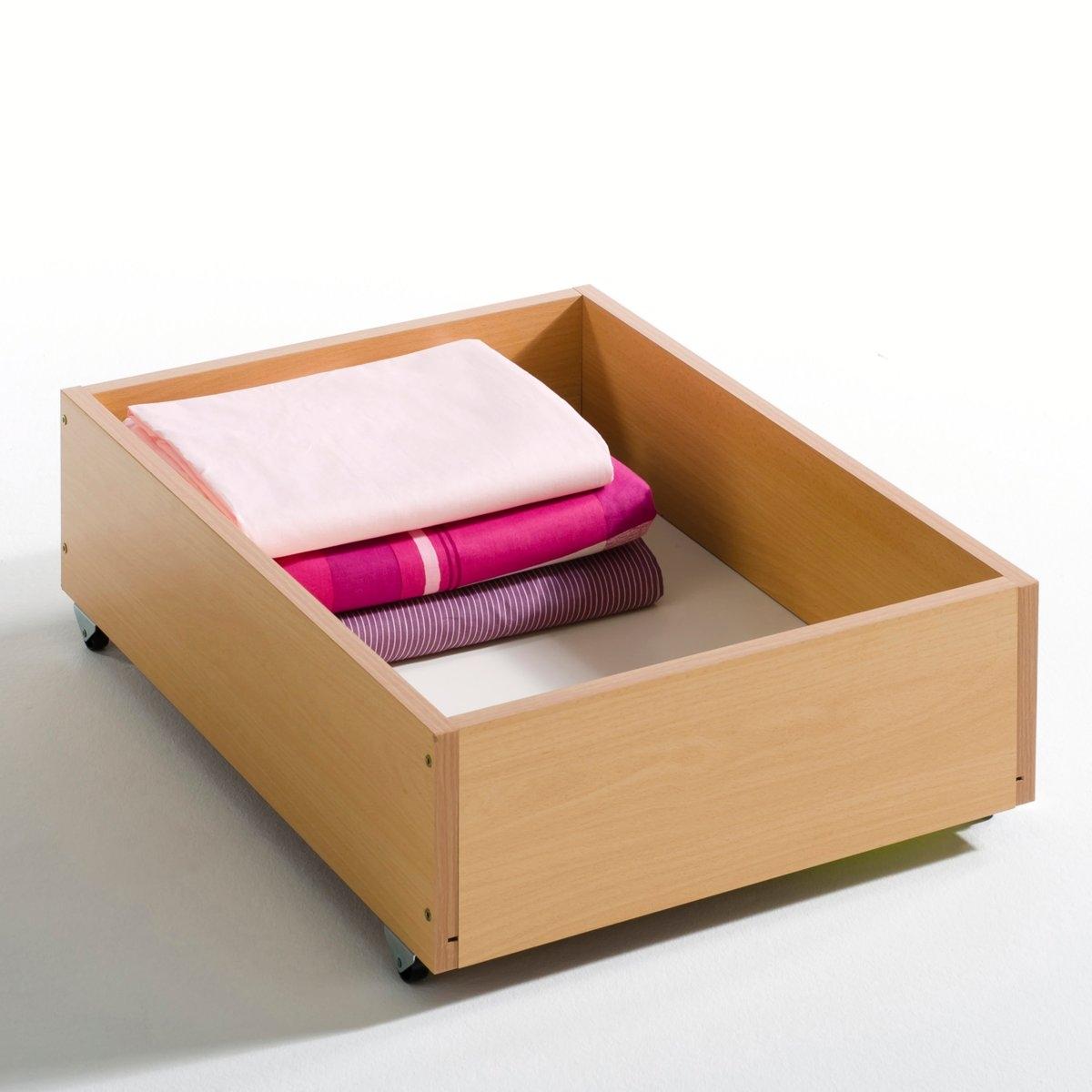 Ящик для хранения под диваномЯщик для хранения на колесах: специально создан для удобного хранения под диваном BZ и экипирован колесами. Европейское производство. Размеры ящика для хранения под диваном BZ:Высота: 13 см.Глубина: 56 см.3 шириныРазмер 90: ширина внутри 41 см.Размер 140: ширина внутри 87 см.Размер 160: ширина внутри 97 см.Описание ящика для хранения под диваном BZ:специально создан для удобного хранения под диваном BZ и экипирован колесами.Характеристики ящика для хранения под диваном BZ:выполнен из ДСП.Другие модели коллекции BZ на сайте laredoute.ruРазмеры и вес коробки:1 коробкаРазмер 90: Д. 73 x В. 3,5 x Г. 61 см, 5 кг.Размер 140: Д. 110 x В. 3,5 x Г. 61 см, 8 кг.Размер 160: Д. 110 x В. 3,5 x Г. 61 см, 9 кгДоставка:Данная модель требует самостоятельной сборки. Доставка осуществляется до квартиры по предварительной договоренности!Внимание! Убедитесь в том, что посылку возможно доставить на дом, учитывая ее габариты.<br><br>Цвет: светлое дерево бук<br>Размер: 90
