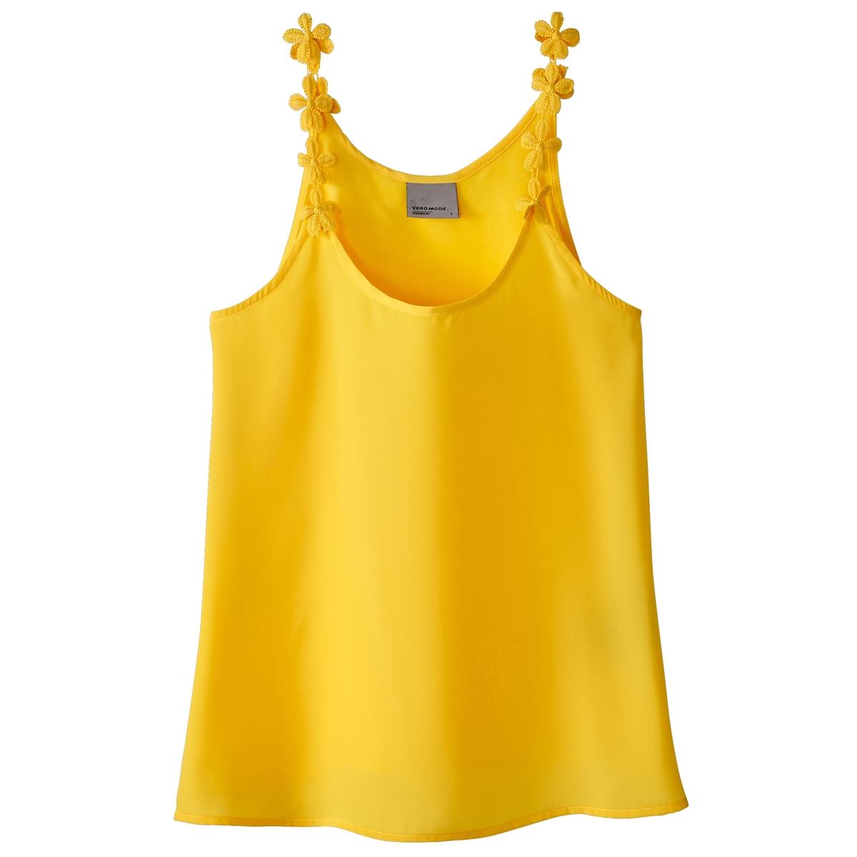 ТопДетали •  Тонкие бретели   •   V-образный вырезСостав и уход •  100% полиэстер  •  Следуйте советам по уходу, указанным на этикетке<br><br>Цвет: желтый,хаки,черный<br>Размер: S.M.M.M.L.L.L