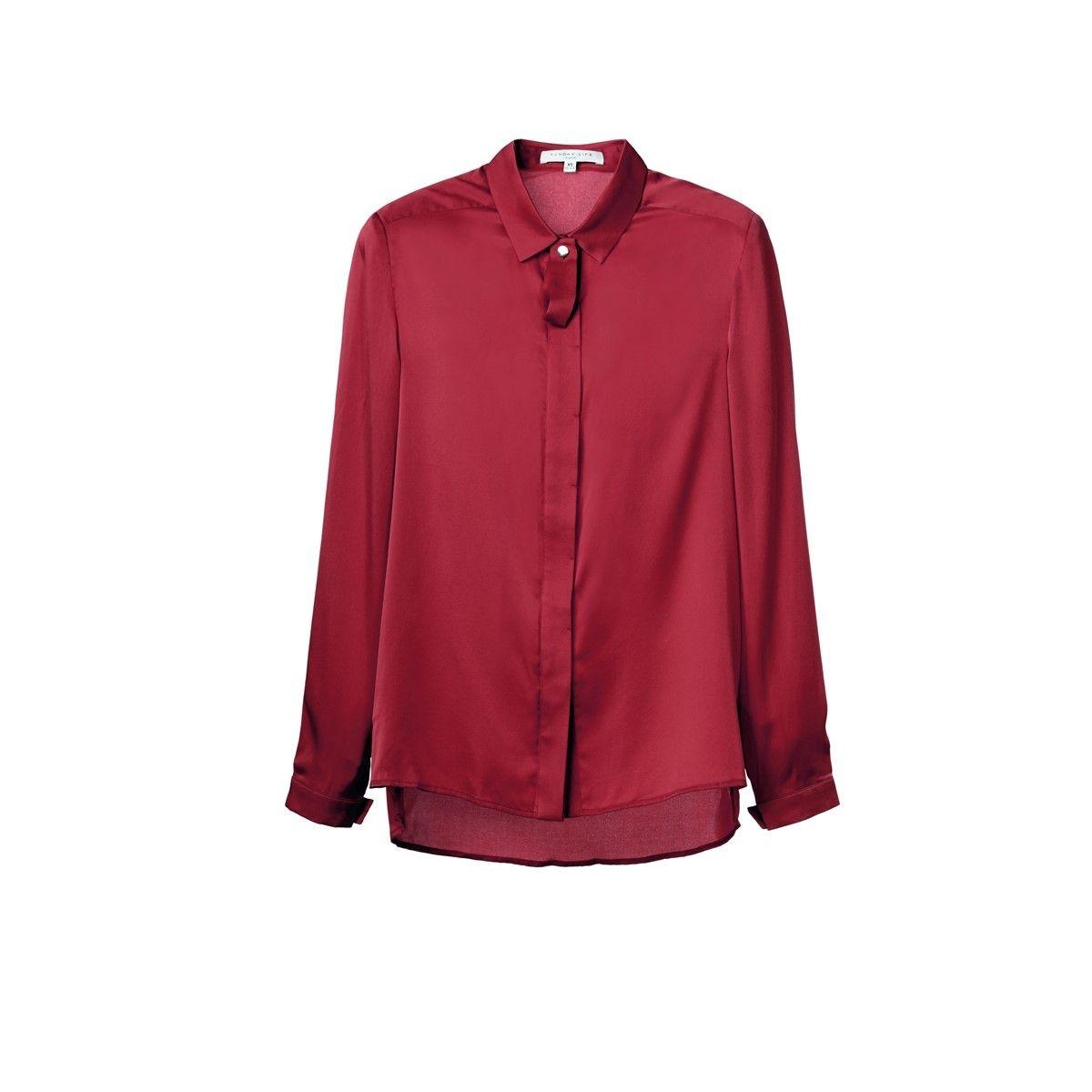 Chemise Femme en Soie manche longue tenue bureau classique chic