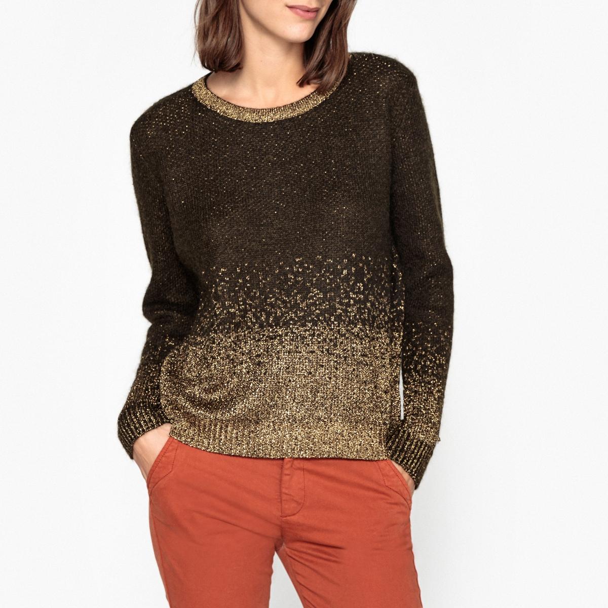 Пуловер с круглым вырезом из радужного трикотажа ELYNE пуловер из мохера