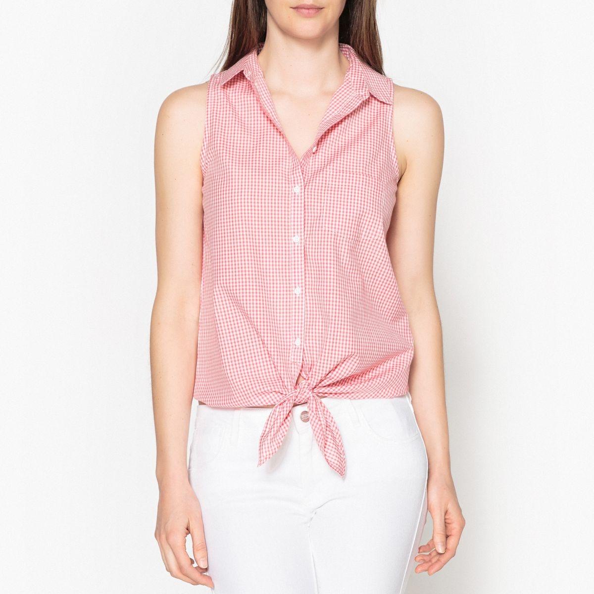 Blouse chemise sans manches CAROLE POPELINE
