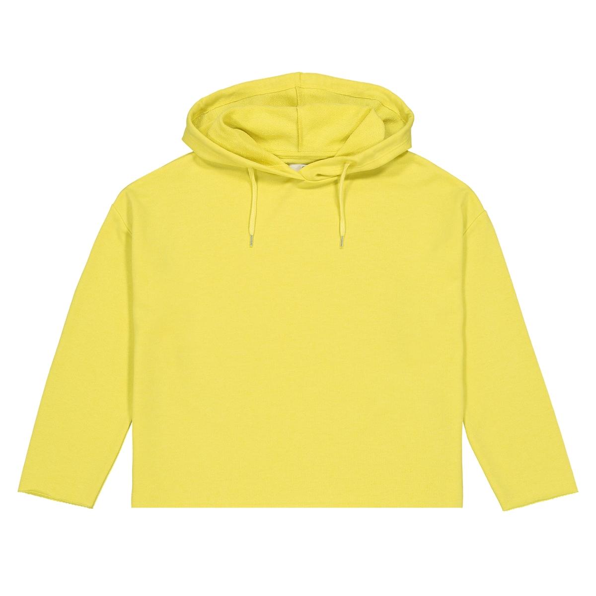Свитшот La Redoute Однотонный покроя оверсайз с капюшоном 16 лет - 162 см желтый