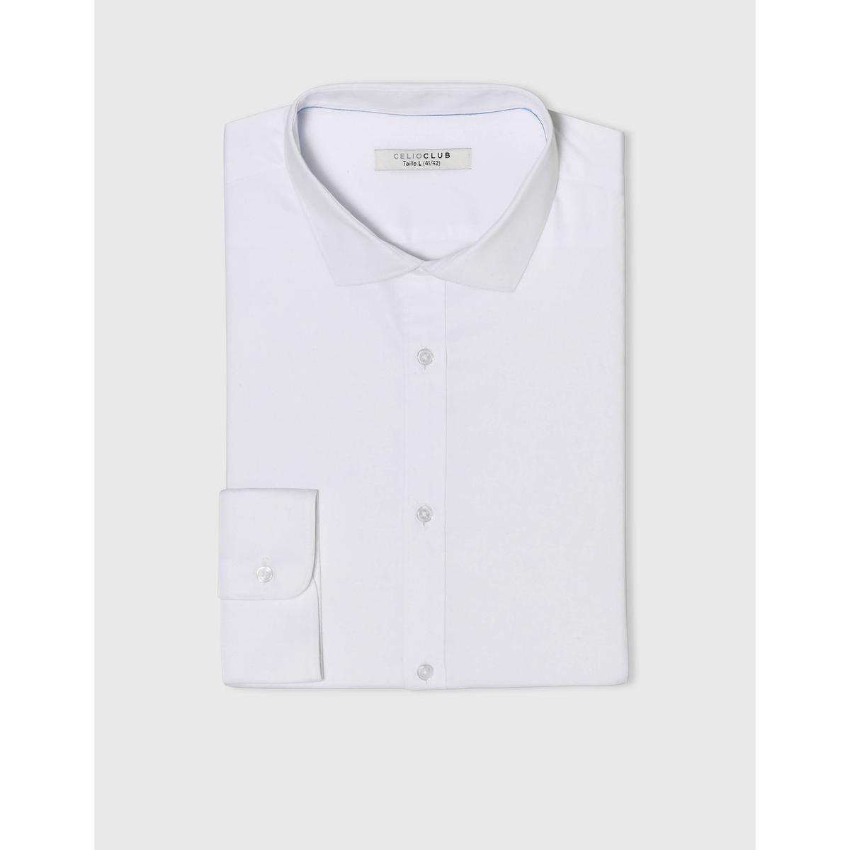 Рубашка SharaniРубашка с длинными рукавами SHARANI - CELIO. Прямой покрой (ровный), классический воротник со свободными уголками. Низ закруглённый, манжеты на пуговицах. Состав и описаниеМатериал: 100% хлопка.Марка: CELIO.<br><br>Цвет: белый,черный<br>Размер: S.XL.L.S.XL.M