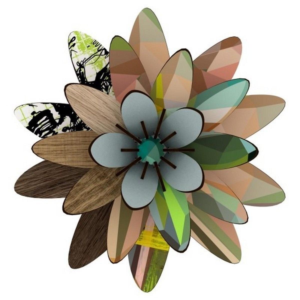fleur décoration murale bois Northern Star