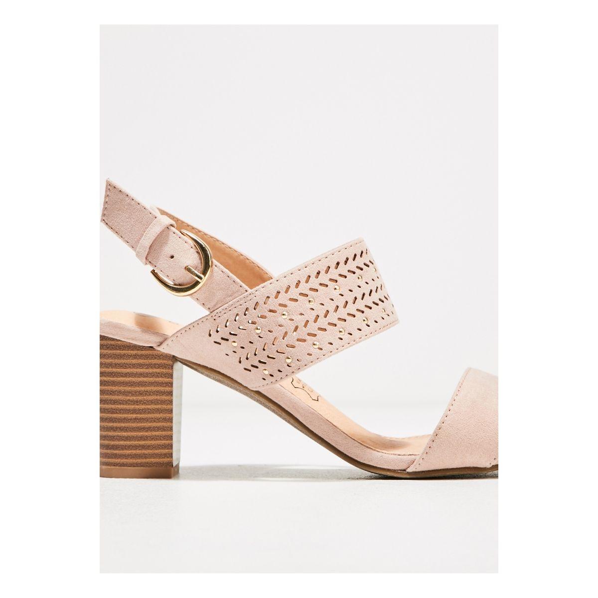 Sandales à talons bottiers