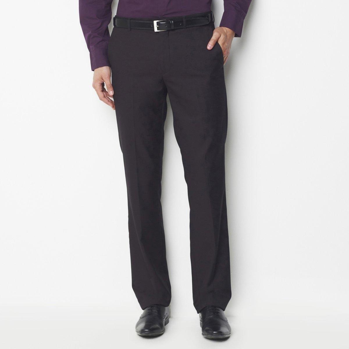 Брюки костюмные из синтетического материалаДетали •  Костюмные брюки •  Высота пояса стандартнаяСостав и уход •  30% вискозы, 70% полиэстера •  Tемпература стирки 30° на деликатном режиме •  Допускается чистка любыми растворителями / отбеливание запрещено •  Не использовать барабанную сушку •  Низкая температура глажки<br><br>Цвет: черный<br>Размер: 40 (FR) - 46 (RUS).42 (FR) - 48 (RUS).38 (FR) - 44 (RUS).52 (FR) - 58 (RUS).36 (FR) - 42 (RUS)