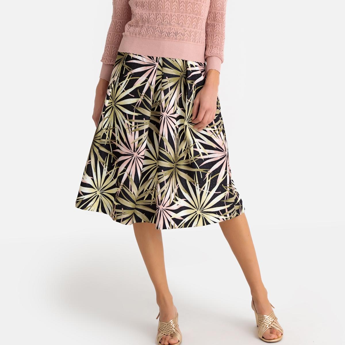Imagen secundaria de producto de Falda amplia con estampado de flores, semilarga - Anne weyburn