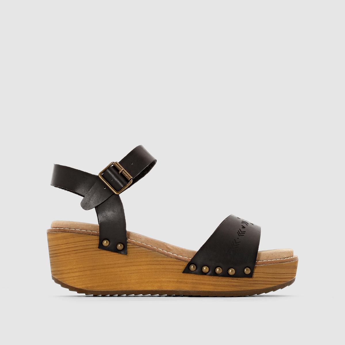 Босоножки на танкетке, ремешок вокруг щиколотки, CASIDIПрофессиональная команда стилистов работала целый год, чтобы представить нам классную и модную обувь : Воспользуемся возможностью с этими превосходными босоножками, созданными, чтобы наслаждаться жизнью... и модой !<br><br>Цвет: черный<br>Размер: 37