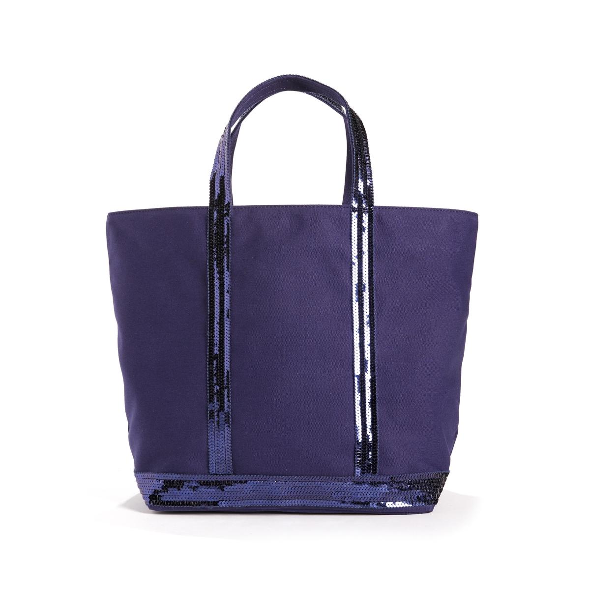 Фото - Сумка-шоппер La Redoute Средняя из ткани с блестками единый размер синий сумка шоппер средняя из парусины с блестками