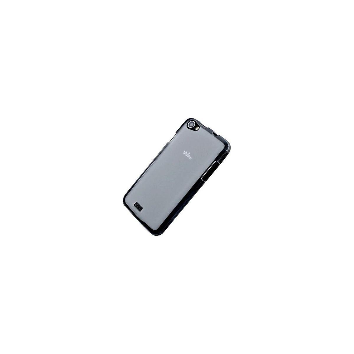 Coque silicone blanc transparent pour Wiko Getaway