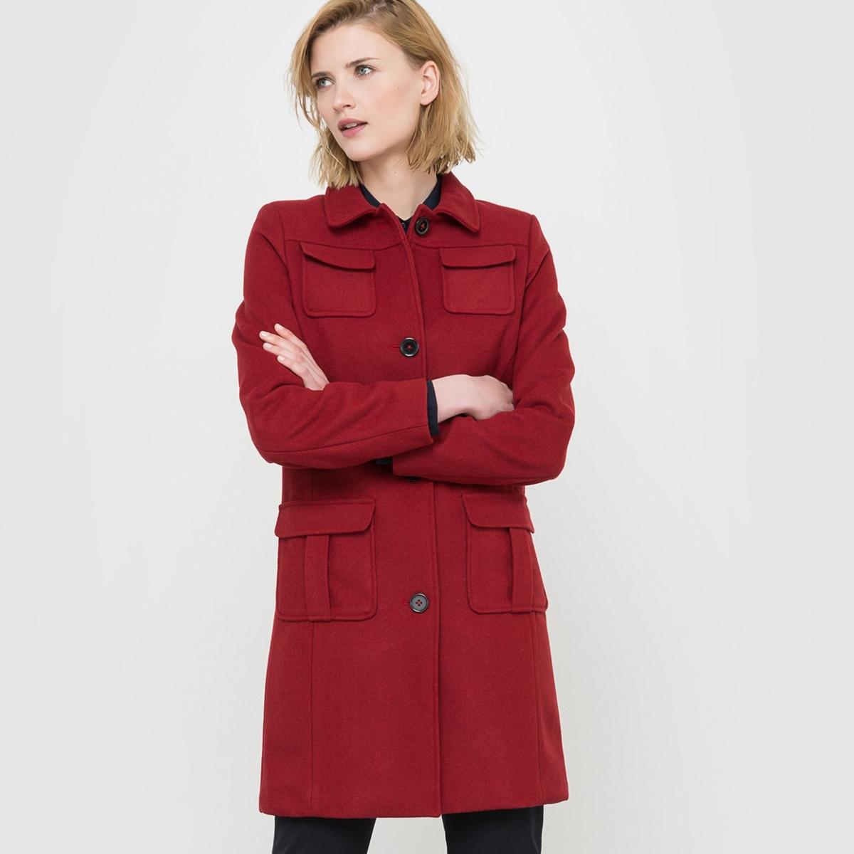 Пальто, 60 % шерсти. пальто драповое 30% шерсти