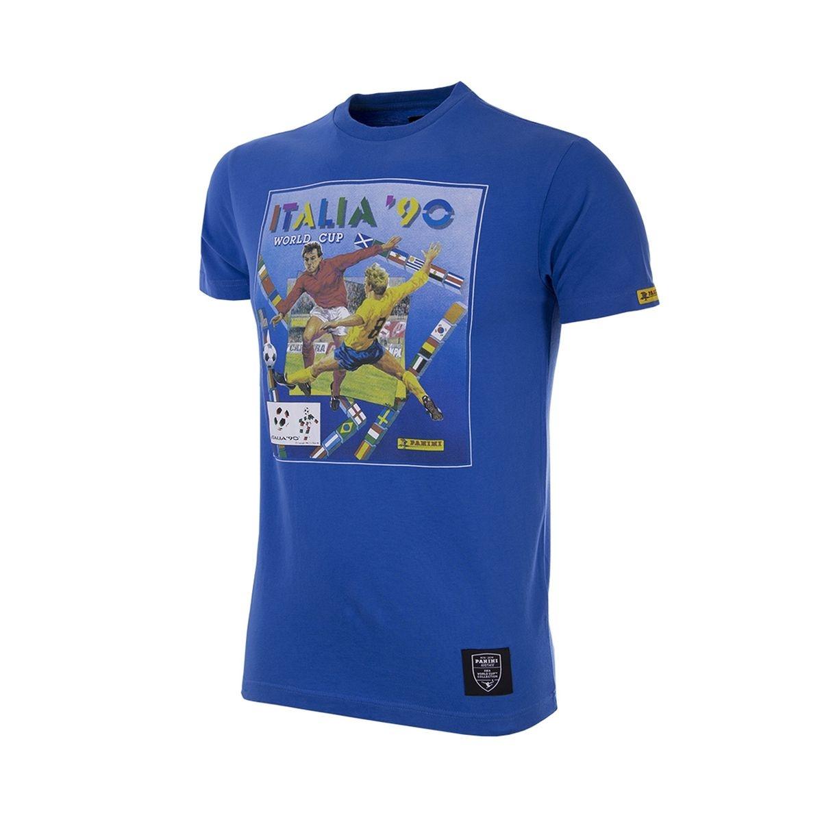 T-shirt Rétro Italie 1990 Bleu