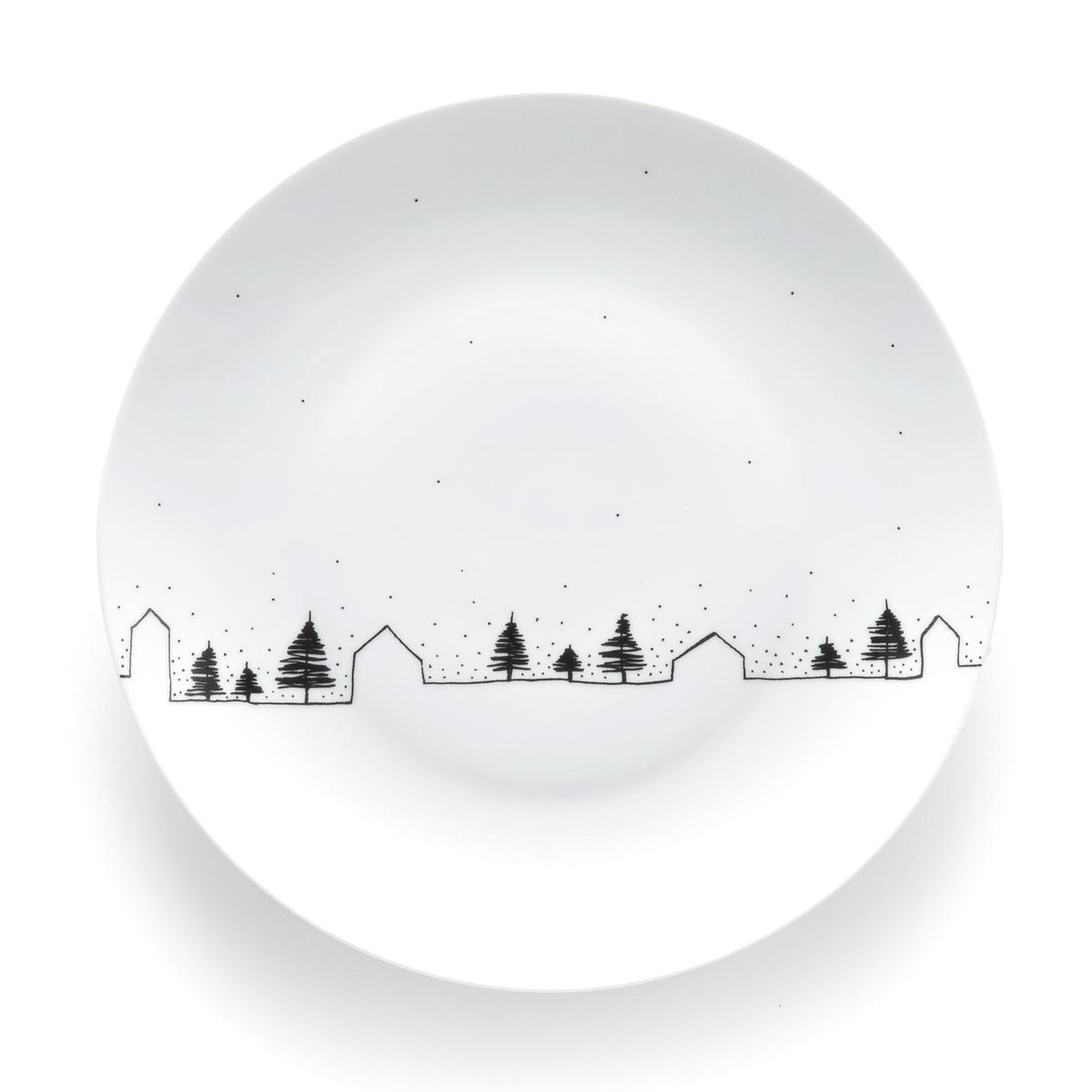 Тарелки La Redoute Мелкие MIWIN единый размер белый