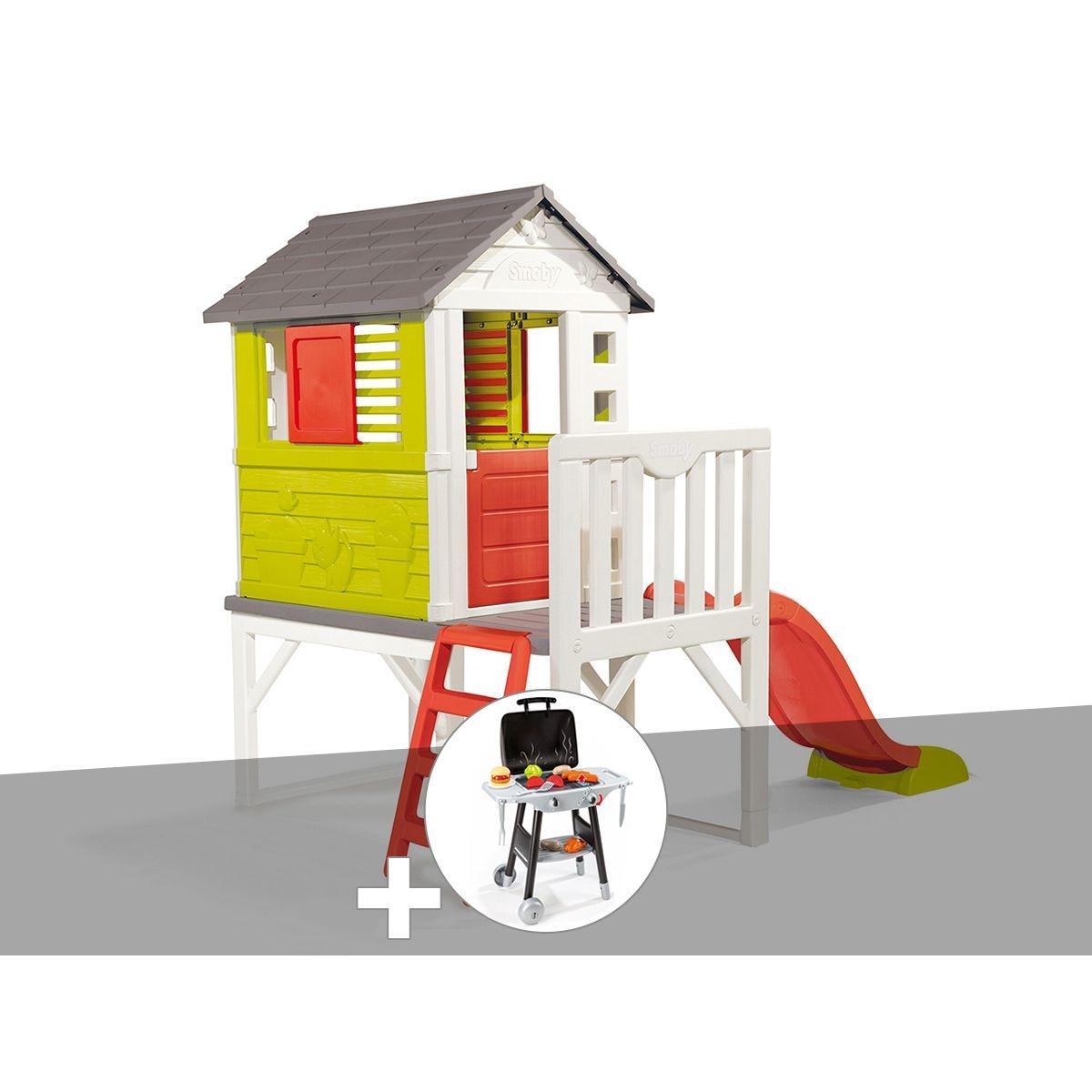 Cabane enfant Pilotis - Smoby + Plancha