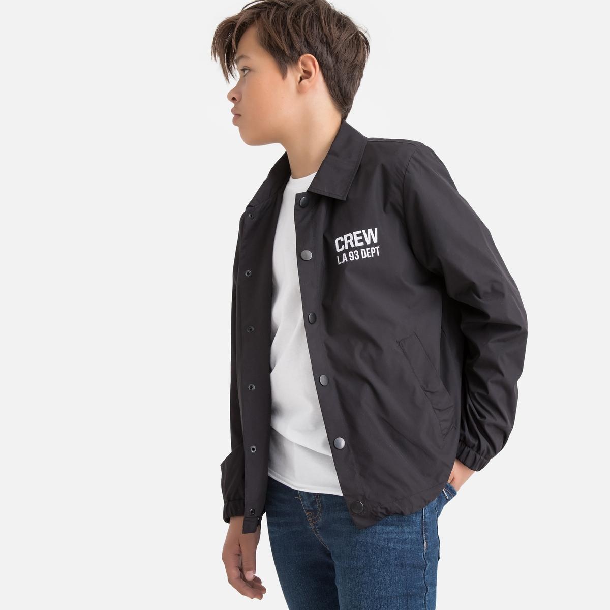Блузон La Redoute Короткий с застежкой на кнопки 10-18 лет 16 лет - 174 см черный полуприлегающая куртка с застежкой на кнопки escada полуприлегающая куртка с застежкой на кнопки