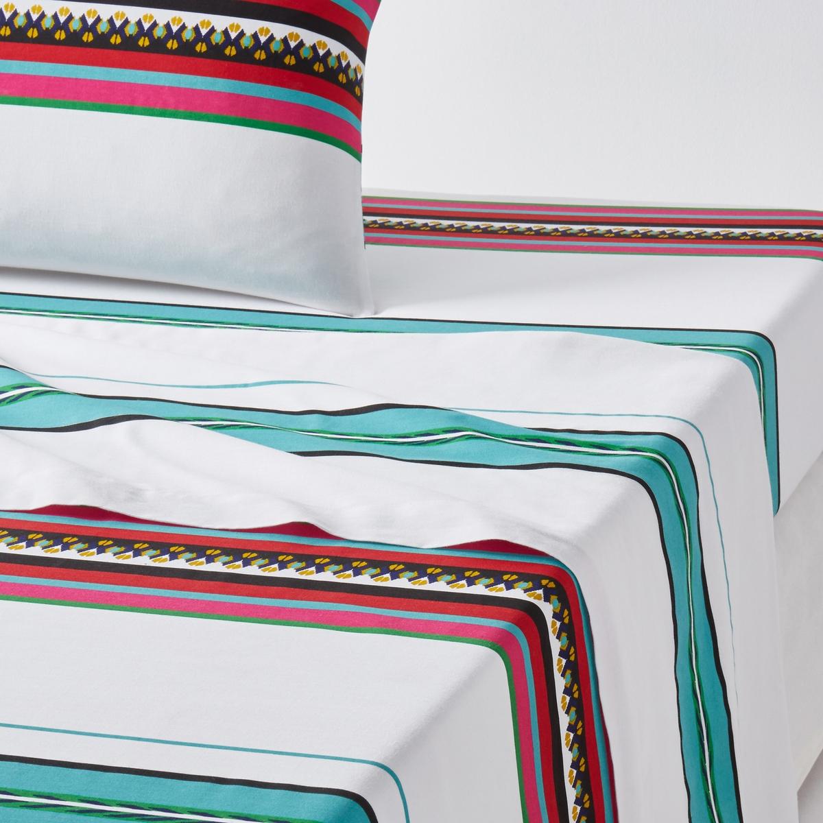 Простыня гладкая с рисунком, Nazca BlancХарактеристики простыни:100% хлопка, 57 нитей/см2.Чем больше нитей/см2, тем выше качество ткани.Машинная стирка при 60 °С.С рисунком.Размеры: 180 x 290 см : 1-сп.240 х 290 см : 2-сп.270 x 290 см : 2-сп.Знак Oeko-Tex® гарантирует, что товары прошли проверку и были изготовлены без применения вредных для здоровья человека веществ. Уход :Следуйте рекомендациям по уходу, указанным на этикетке изделия.<br><br>Цвет: рисунок/белый<br>Размер: 270 x 290  см