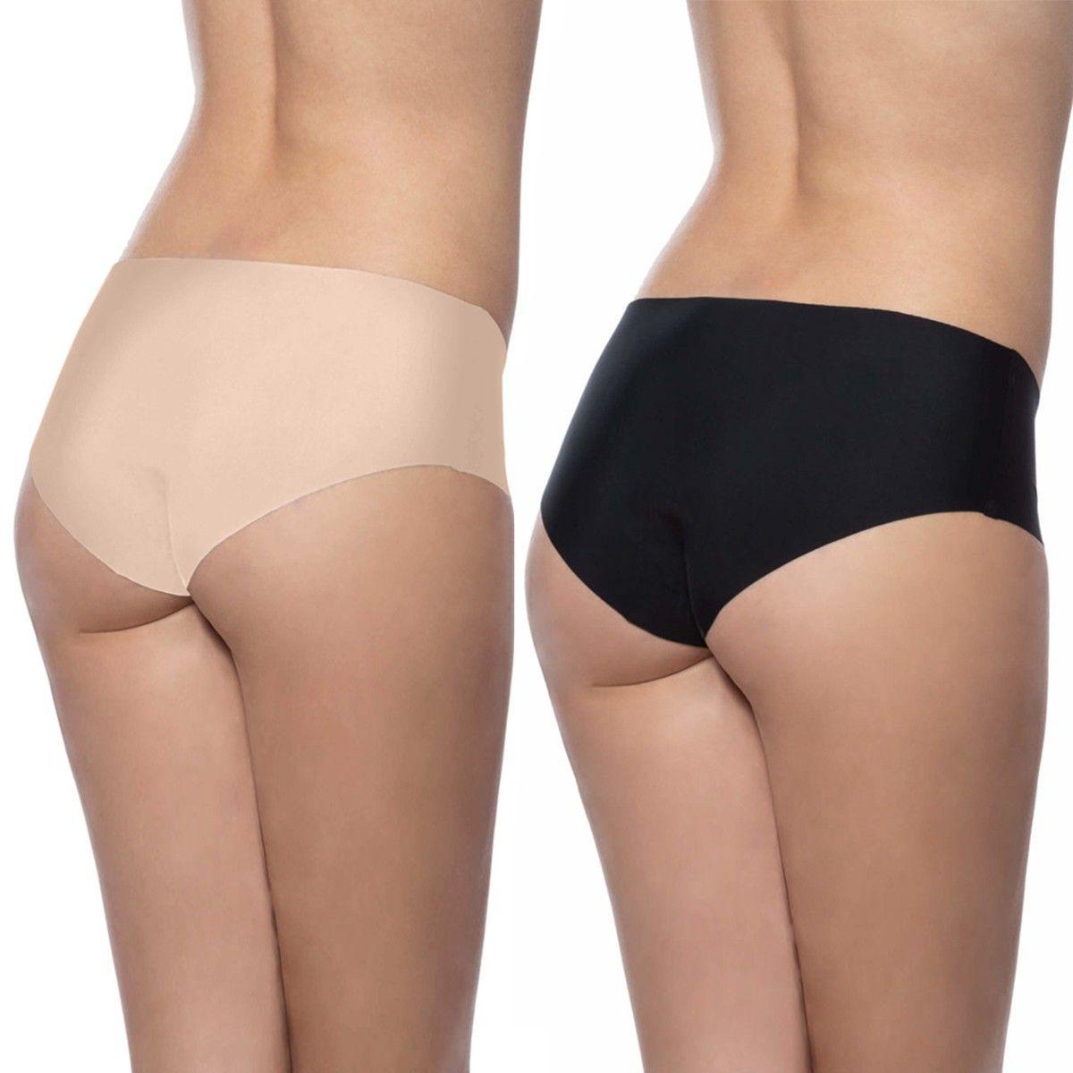 Pack de 2 culottes invisibles sans coutures